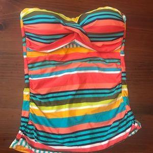 Anne Cole Colorful Striped TANKINI Sz Medium
